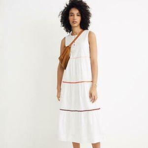 NWT Madewell Rickrack Midi A-Line Dress Sz M